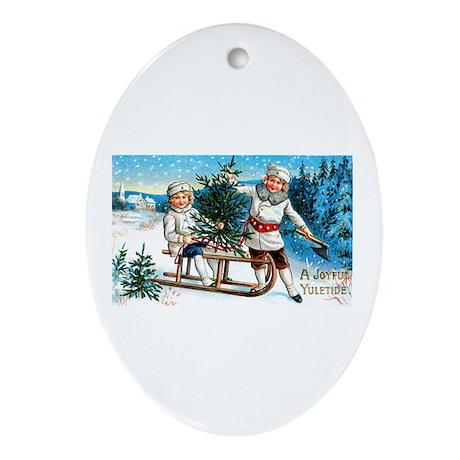 Christmas Tree Children Oval Ornament