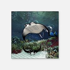 Awesome manta in the deep underwater world Sticker