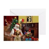 Italian spinone christmas Greeting Cards (10 Pack)