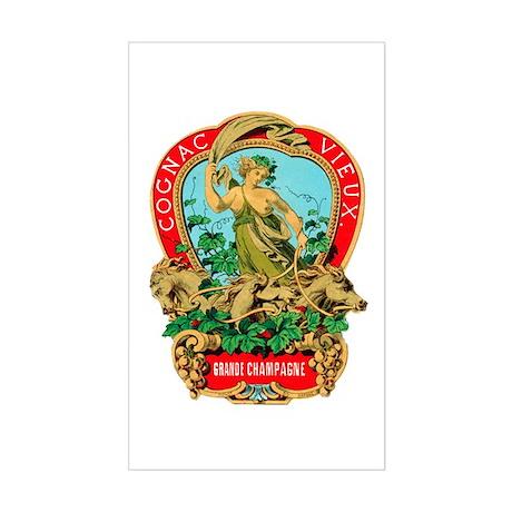Cognac Label Rectangle Sticker