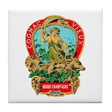 Cognac Label Tile Coaster
