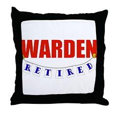 Retired Warden Throw Pillow