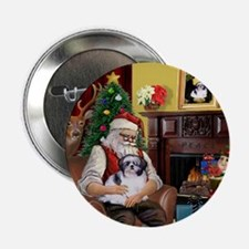 "Santa's Shih Tzu (#1) 2.25"" Button"