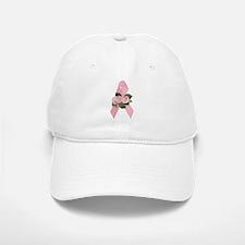 Breast Cancer Ribbon & Roses Baseball Baseball Cap