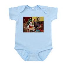 Santa's Welsh Corgi (7b) Infant Bodysuit