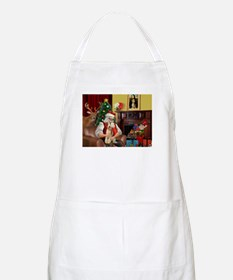 Santa's Wire Fox Terrier BBQ Apron