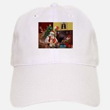 Santa's Wire Fox Terrier Baseball Baseball Cap