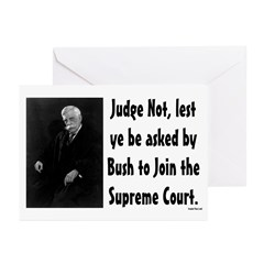 Judge Not Supreme Court Greeting Cards