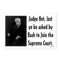 Eight Judge Not judicial postcards
