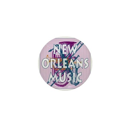 Purple New Orleans Music #2 Mini Button