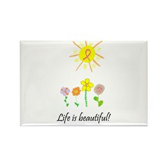 Life is Beautiful Rectangle Magnet (100 pack)