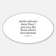 GENESIS 37:6 Oval Decal
