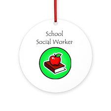 School Social Worker Ornament (Round)