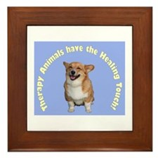 Therapy Animals..Healing Touch Framed Tile