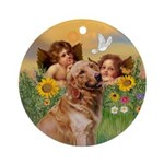 Angels and Golden Keepsake (Round)