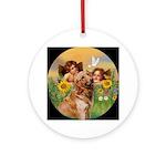 Angels and Golden Keepsake (Round)