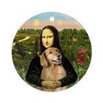Mona's Golden Retriever Keepsake (Round)