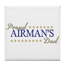 Airman's Dad Tile Coaster