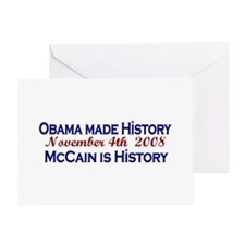 Obama Made History Greeting Card
