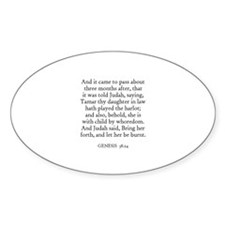 GENESIS 38:24 Oval Decal
