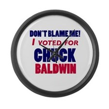 I Voted Chuck Baldwin Large Wall Clock