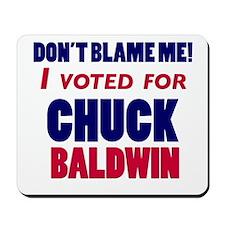 I Voted Chuck Baldwin Mousepad