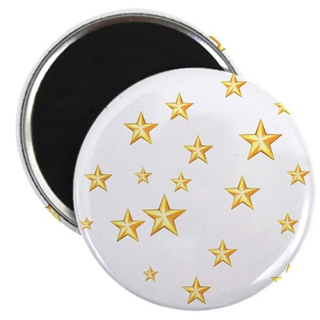 "GOLD STARS 2.25"" Magnet (10 pack)"