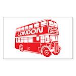 London Transit Rectangle Sticker 10 pk)