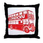 London Transit Throw Pillow