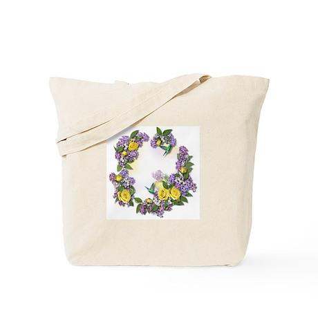 Lilacs & Yellow Roses Tote Bag