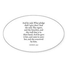 GENESIS 38:18 Oval Decal