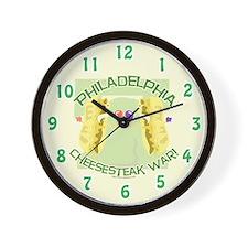 Philly Cheesesteak War Wall Clock