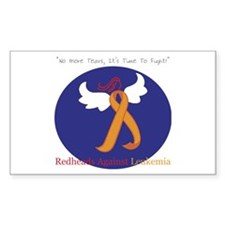 Redheads Against Leukemia Rectangle Decal