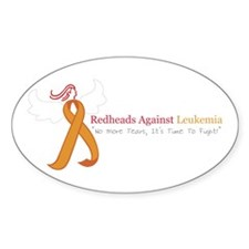 Redheads Against Leukemia Oval Decal