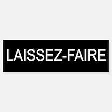 LAISSEZ-FAIRE Bumper Car Car Sticker