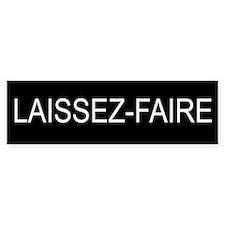 LAISSEZ-FAIRE Bumper Car Sticker