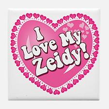 I Love My Zeidy Tile Coaster