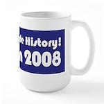 I Voted & Made History! Large Mug