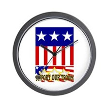 Support Our Troops! Wall Clock