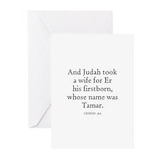 GENESIS  38:6 Greeting Cards (Pk of 10)