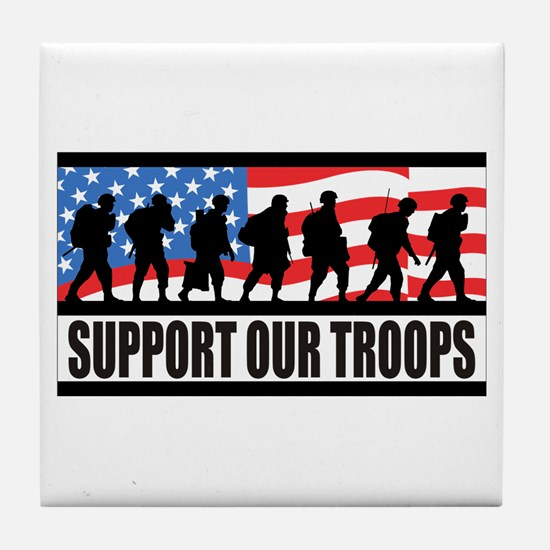 Support Our Troops! Tile Coaster