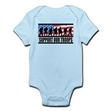 Support Our Troops! Infant Bodysuit