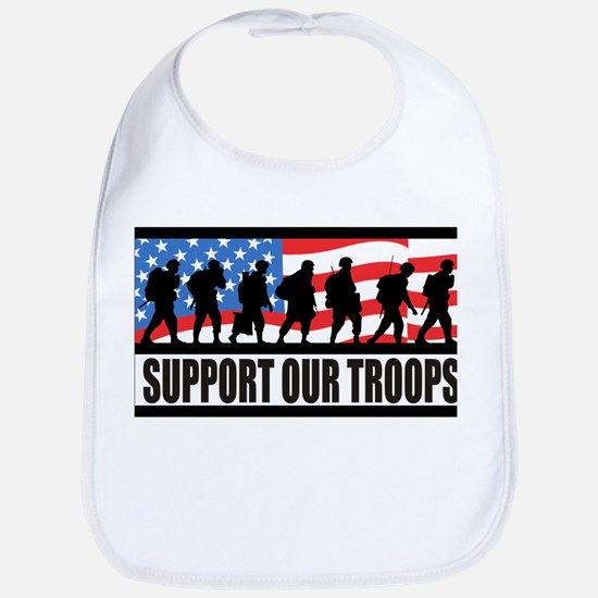 Support Our Troops! Bib
