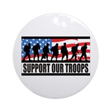 Support Our Troops! Ornament (Round)