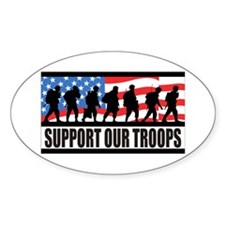Support Our Troops! Oval Decal