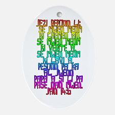 John 14:6 Haitian Creole Christmas Ornament