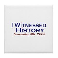 Witness History (Obama Wins) Tile Coaster