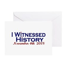 Witness History (Obama Wins) Greeting Card