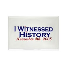 Witness History (Obama Wins) Rectangle Magnet