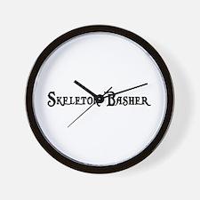 Skeleton Basher Wall Clock